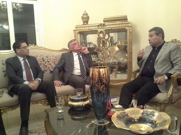 توفيق عكاشة يستقبل السفير الإسرائيلي