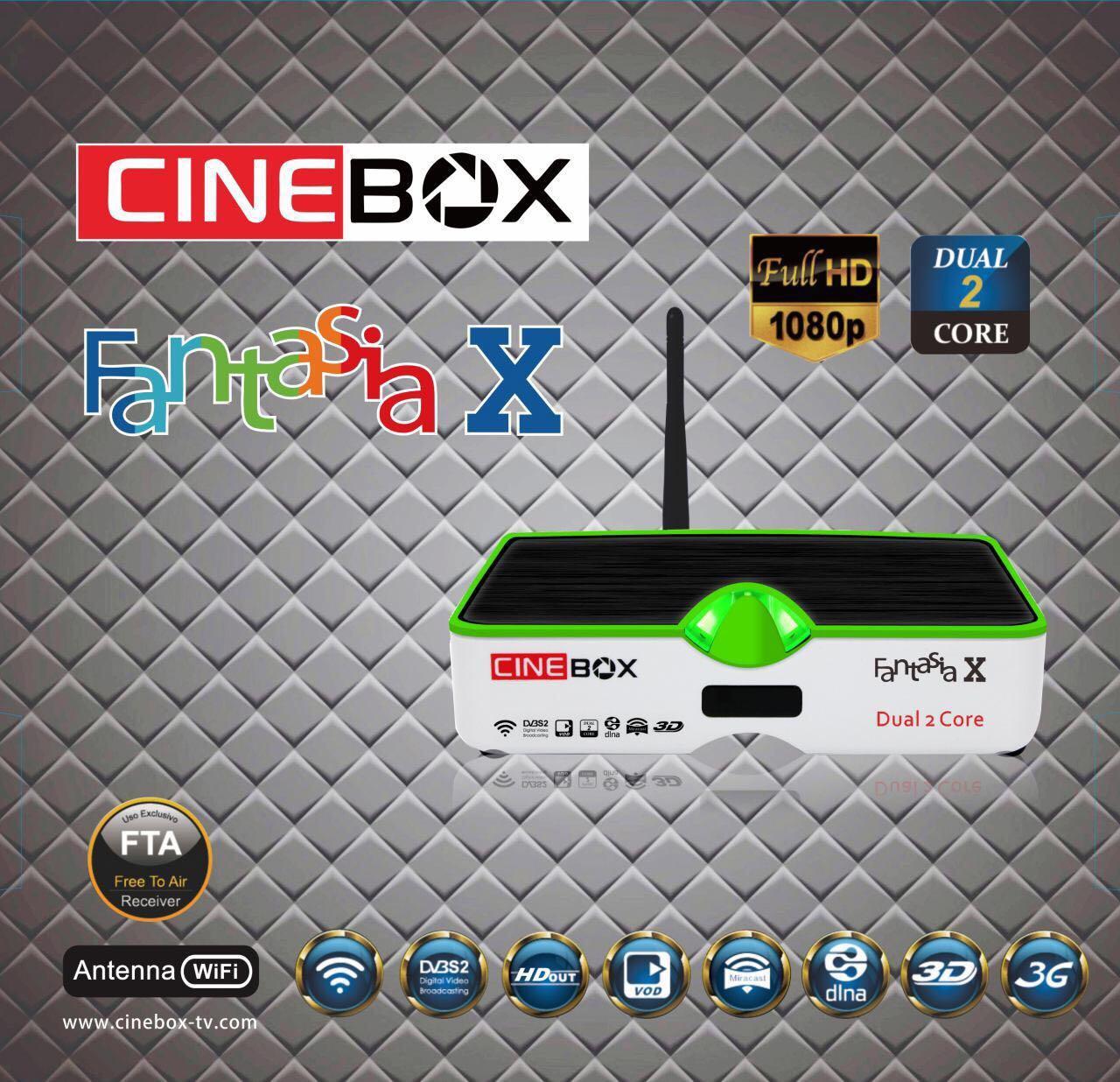 تحديثات بالجملة لأجهزة cinebox hd