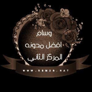 وسام افضل مدونه المركز الثاني