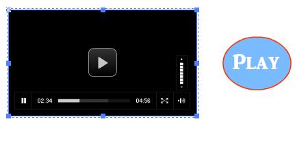 كيفية عمل زر عند الضغط عليه يشغل فيديو من component