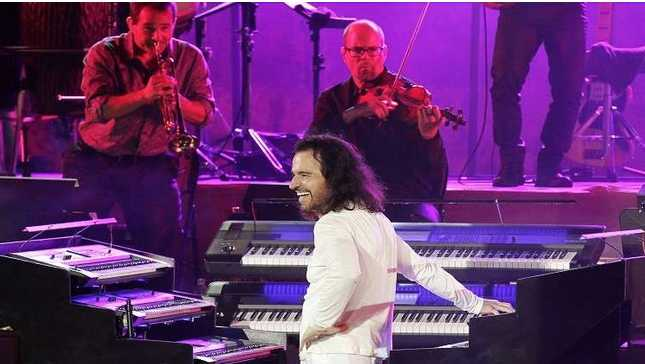 الموسيقار العالمي يانّي وكاظم الساهر في السعودية