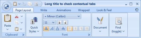 تعلم كيفية إنشاء شريط أدوات مخصص مثل شريط Office2007 بإستخدام المكتبة Flamingo's ribbon 444192626