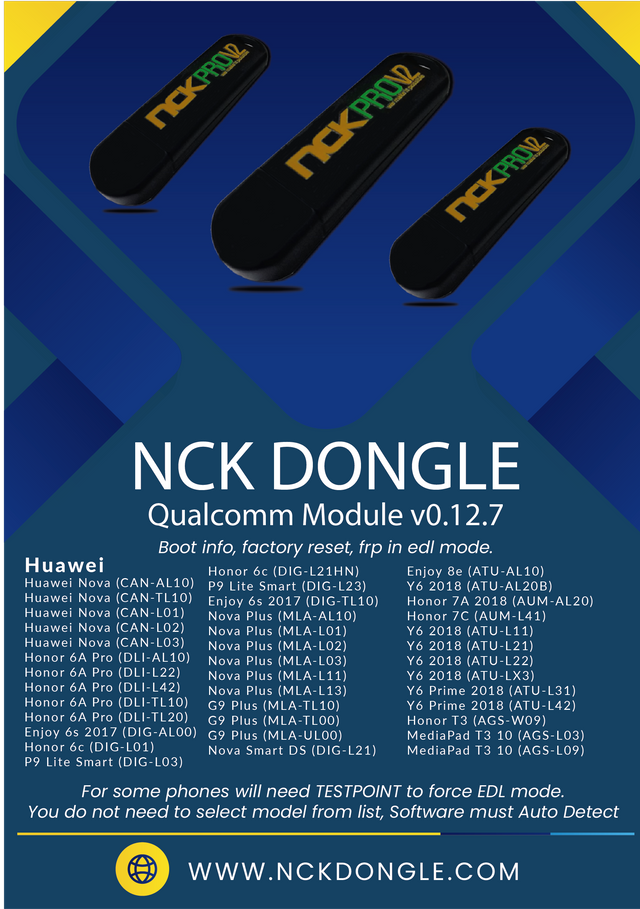 NCK Dongle / NCK Pro Qualcomm Module v0.12.7 Update Released - [12/05/2020]