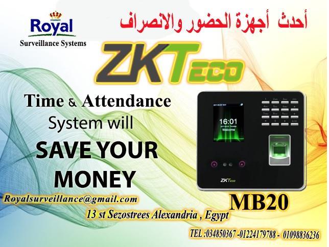 ساعات حضور وانصراف ماركة ZKTeco   موديل MB20   664588418