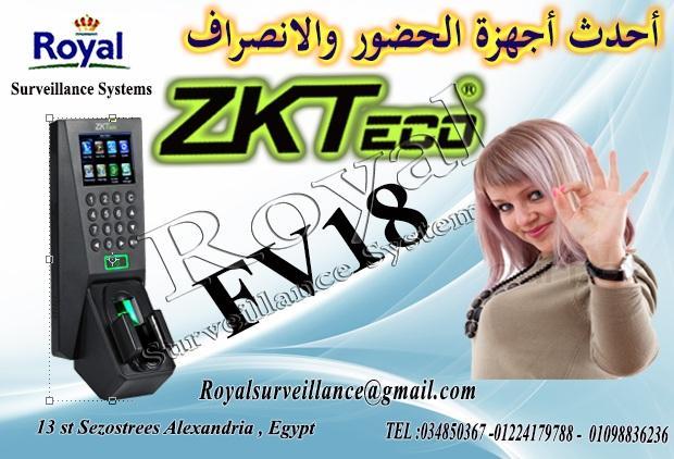 أنظمة حضور وانصراف ماركة ZKTeco موديل FV18   151887781